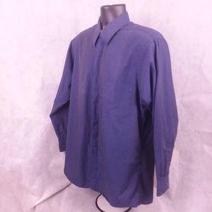 DKNY Mens Size 16 Blue Dress Shirt